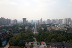 View of the city of Xian (Sian, Xi'an), Shaanxi province, China Stock Image