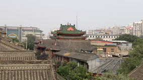 View of the city of Xian (Sian, Xi'an), Shaanxi province, China Stock Photo