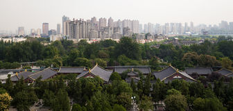 View of the city of Xian (Sian, Xi'an), Shaanxi province, China Stock Photography