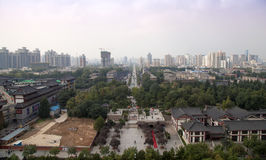 View of the city of Xian (Sian, Xi'an), Shaanxi province, China Royalty Free Stock Photos