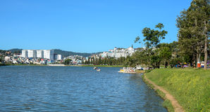 View of the city with Xuan Huong lake in Dalat, Vietnam Royalty Free Stock Photos