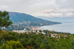 View of the city of Yalta and the Black Sea Stock Image