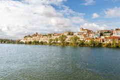 View of the city of Zamora and the Duero river on a sunny day Stock Image