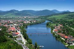 View on city Zilina, Slovakia royalty free stock photography
