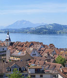 View in the city of Zug Royalty Free Stock Images