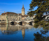 View in the city of Zurich, Switzerland Stock Images