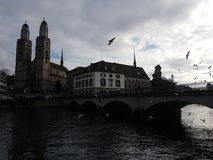 View of Zurich royalty free stock photography