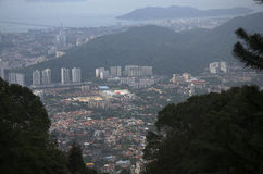 View cityscape and landscape of Penang city from viewpoint of Pe Royalty Free Stock Photos