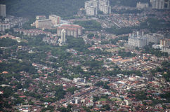 View cityscape and landscape of Penang city from viewpoint of Pe Royalty Free Stock Photo