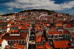 View of cityscape Old City Lisboa Lisbon Portugal. Europa stock photography