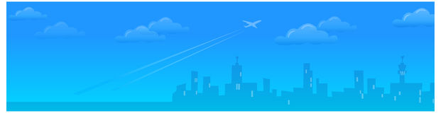 The view of Citysky line royalty free illustration