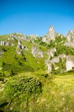 View of Ciucas Mountains, Romanian Carpathians. View of the amazing karst relief of Ciucas Mountains, part of the wild Carpathian range that crosses Romania Stock Photos