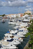 View of Ciutadella. From the harbour looking back towards the cathedral Royalty Free Stock Photos