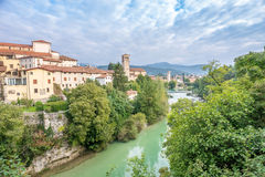 View at the Cividale del Friuli with river Royalty Free Stock Image