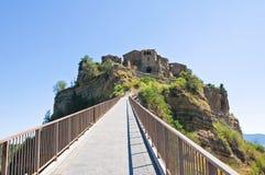 View of Civita di Bagnoregio. Lazio. Italy Stock Photography