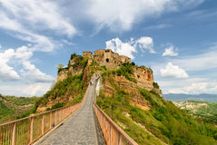 View of Civita di Bagnoregio Stock Photography