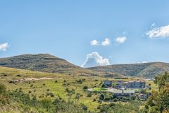 View of Clarens in the Free State Province Royalty Free Stock Photo