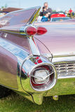 View of a classic car rear light cluster Royalty Free Stock Photo