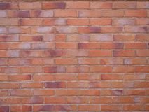 Brick wall background. View of classical brick wall background royalty free stock photos