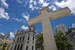 A view of classical chruch architecture in Macau Stock Photos