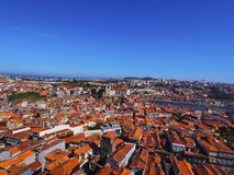 View from Clerigos Tower in Porto Stock Image