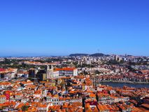 View from Clerigos Tower in Porto Stock Photos