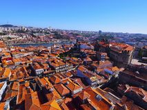 View from Clerigos Tower in Porto Stock Images