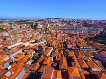 View from Clerigos Tower in Porto stock photo