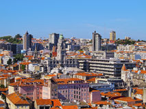 View from Clerigos Tower in Porto Stock Photography