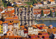 View from Clerigos Tower in Porto Royalty Free Stock Image