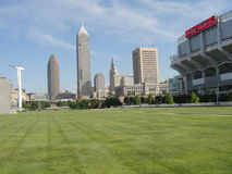 View of Cleveland. Its a part of the Cleveland Skyline Stock Photo