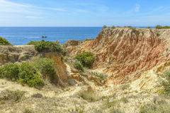View of a Cliff by the Atlantic ocean Royalty Free Stock Photo