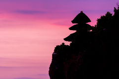 View of a cliff in Bali Indonesia. Royalty Free Stock Image