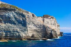 View of the cliff of Bonifacio, Corsica, France Royalty Free Stock Images