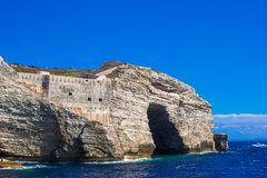 View of the cliff of Bonifacio, Corsica, France Stock Images