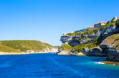 View of the cliff of Bonifacio, Corsica, France Royalty Free Stock Photo