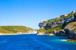 View of the cliff of Bonifacio, Corsica, France Royalty Free Stock Photo