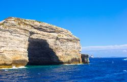 View of the cliff of Bonifacio, Corsica, France Royalty Free Stock Image