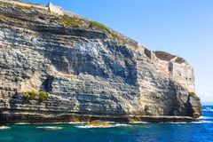 View of the cliff of Bonifacio, Corsica, France Stock Photo