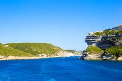 View of the cliff of Bonifacio, Corsica, France Stock Photography