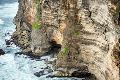 View of the cliff closeup Royalty Free Stock Image