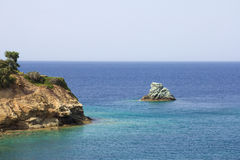 View of the cliff on Crete island Royalty Free Stock Photo