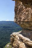 View from Cliff Eagle shelf in summer season, Mezmay, Krasnodar region, Russia Stock Photos