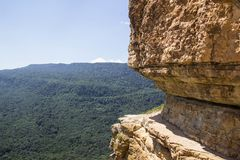 View from Cliff Eagle shelf in summer season, Mezmay, Krasnodar region, Russia Stock Photo