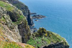 View of a cliff face  in Anglesey. Wales, UK stock photo