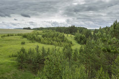 View from the cliff in the forest. This photo was taken in a forest near the village of soldiers ' Tashla Ulyanovsk region Stock Photography