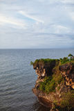 View of the cliff and the ocean. In Bali Stock Photography