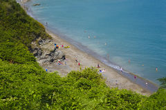 View from the cliff over Saint Marys Bay Torbay Devon Stock Image