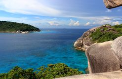 View from the cliff of Sail on the Similan Islands, Thailand royalty free stock photo