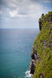View of the cliff and the sea. View of the tropical cliff and the sea stock images